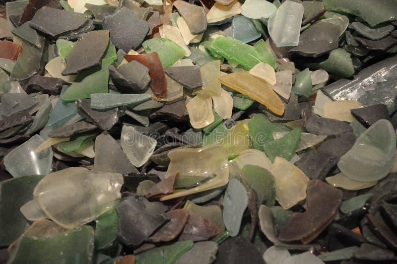 Kolorowi zbita szyba kawałki zdjęcie stock