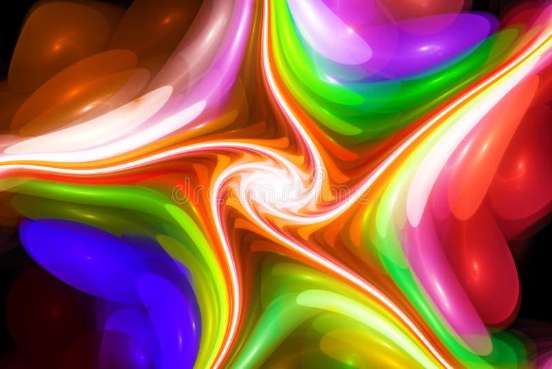 Kolorowy ślimakowaty abstrakcjonistyczny fractal ilustracja wektor