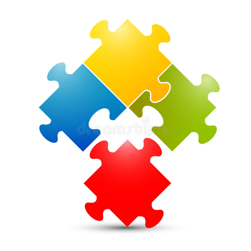 Download Kolorowy łamigłówka wektor ilustracji. Ilustracja złożonej z biznes - 57655161