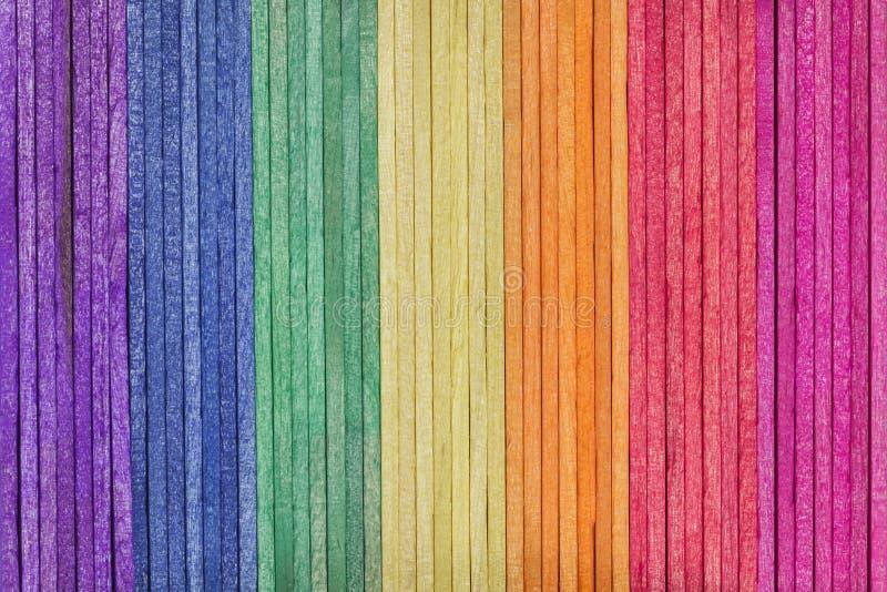 kolorowy śmietanki lodu kija drewno obrazy royalty free