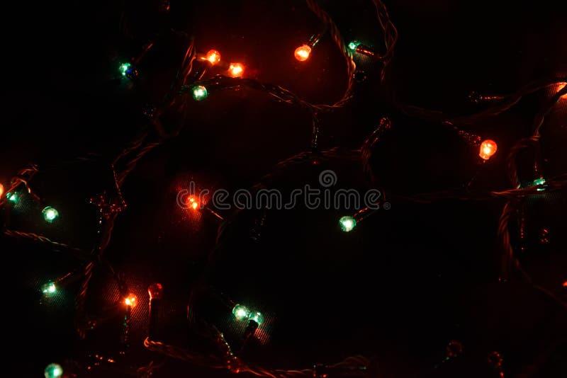 Kolorowy światła bokeh tło, Chrismas zdjęcia stock