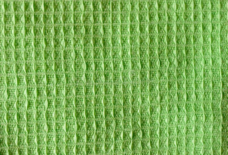 Kolorowy żółtej zieleni koloru tkaniny tekstury jabłczany tło zdjęcia royalty free