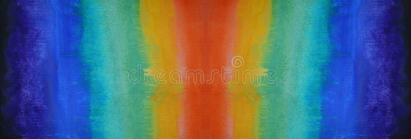 Kolorowy abstrakcjonistyczny akwareli tło ręka patroszona wally royalty ilustracja