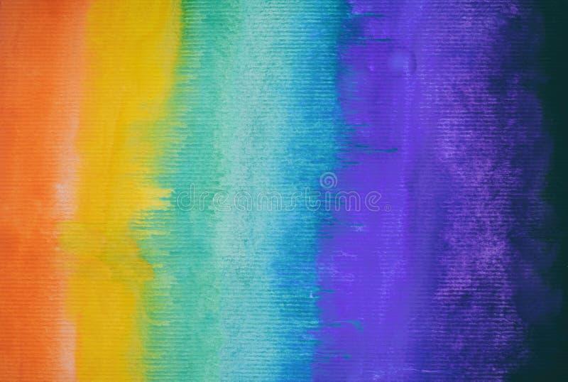 Kolorowy abstrakcjonistyczny akwareli tło ręka patroszona wally zdjęcia royalty free