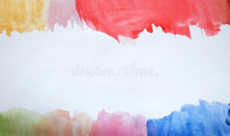 Kolorowy abstrakcjonistyczny akwareli tło ręka patroszona wally ilustracja wektor