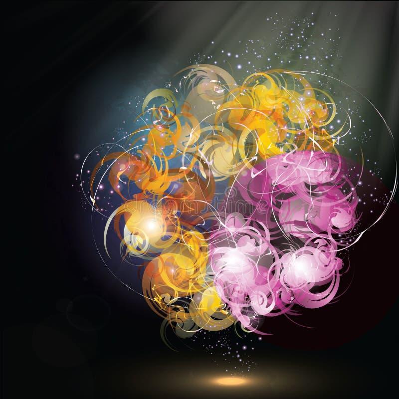 kolorowy abstrakcjonistyczny bukiet ilustracja wektor