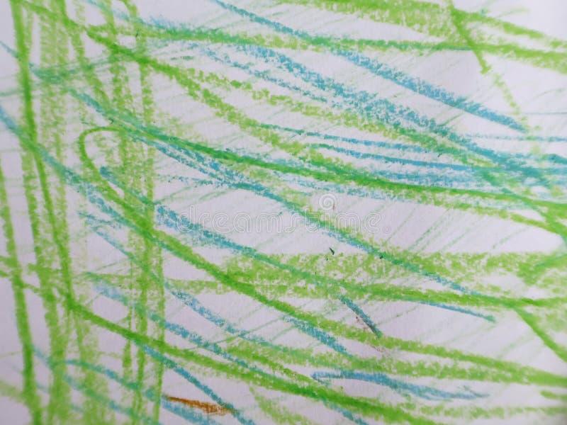 Kolorowy abstrakcjonistyczny dziecko rysunek zdjęcia stock