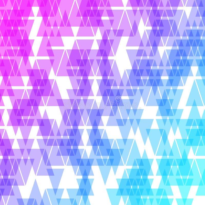 Kolorowy abstrakcjonistyczny geometryczny biznesowy tło Fiołka, menchii i błękitnych geometrycznych kształtów przypadkowa mozaika royalty ilustracja