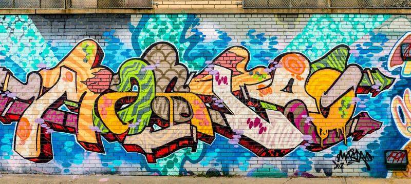 Kolorowy Abstrakcjonistyczny graffiti świat obraz stock