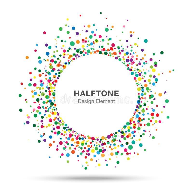 Kolorowy Abstrakcjonistyczny Halftone loga projekta element ilustracja wektor