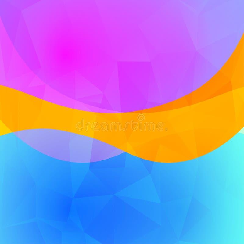 Kolorowy abstrakcjonistyczny jaskrawy zamazany tło w wibrujących kolorach Dekoracyjna projekt tekstura ilustracja wektor