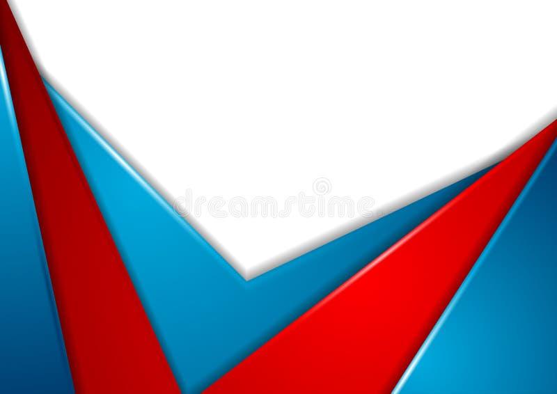 Kolorowy abstrakcjonistyczny korporacyjny kontrasta tło ilustracja wektor