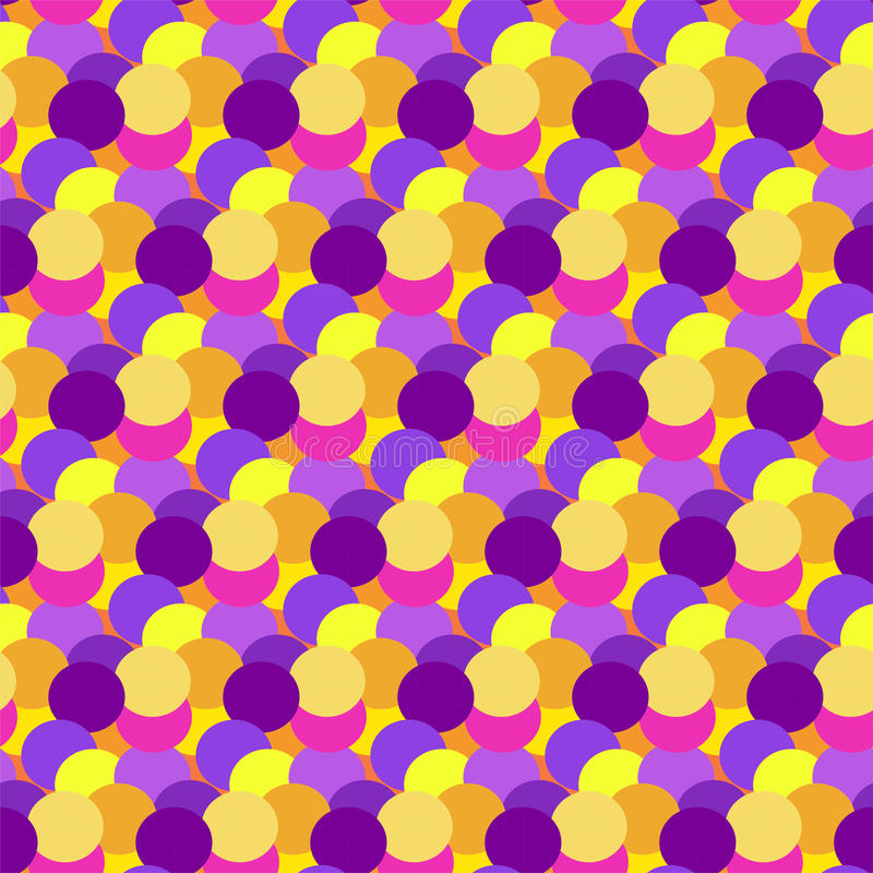 Kolorowy abstrakcjonistyczny kropki tło Okrąg sztuki round tło Bezszwowa deseniowa dekoracja Kolor tekstury wakacje element ilustracji