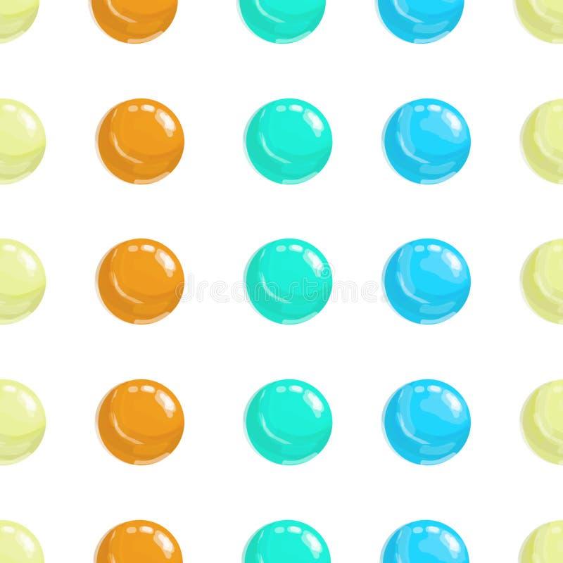 Kolorowy abstrakcjonistyczny kropki t?o ilustracja dla jaskrawego projekta Okr?g sztuki round t?o Bezszwowa deseniowa dekoracja k royalty ilustracja