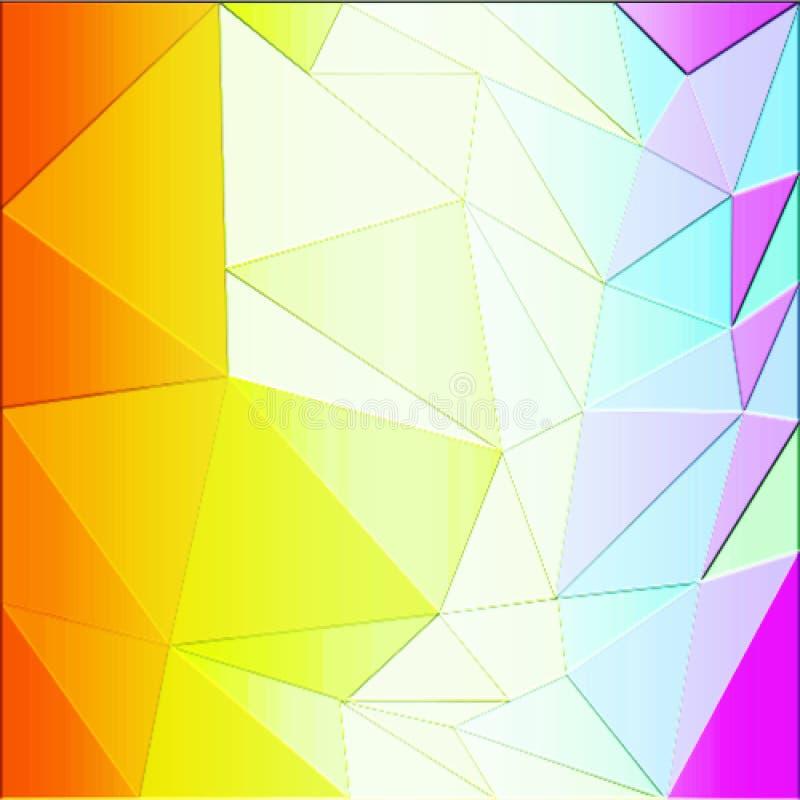 Kolorowy abstrakcjonistyczny niski poli- komputer wytwarzający tło wizerunek i tapetowy projekt royalty ilustracja