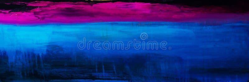 Kolorowy Abstrakcjonistyczny obrazu olejnego tło Olej na brezentowej teksturze ilustracji