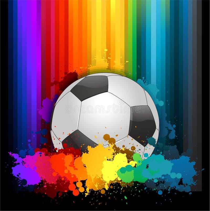 Kolorowy abstrakcjonistyczny piłki nożnej tło royalty ilustracja