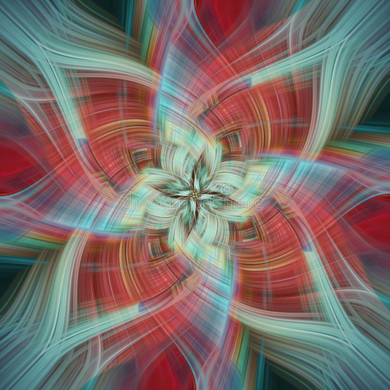 Kolorowy, abstrakcjonistyczny tło z twirl skutkiem, zdjęcie stock