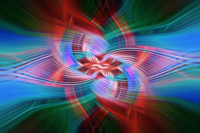 Kolorowy, abstrakcjonistyczny tło z twirl skutkiem, zdjęcia stock
