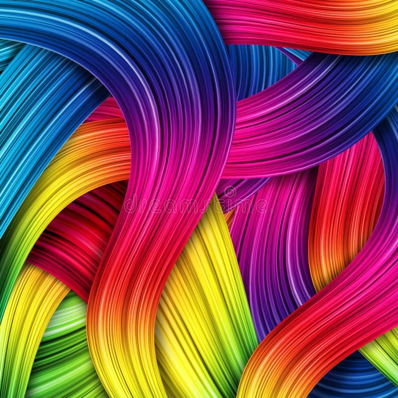 kolorowy abstrakcjonistyczny tło royalty ilustracja