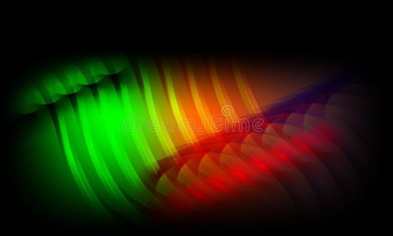 Kolorowy abstrakcjonistyczny t?o, tapeta Ilustracja, krzywa ilustracja wektor