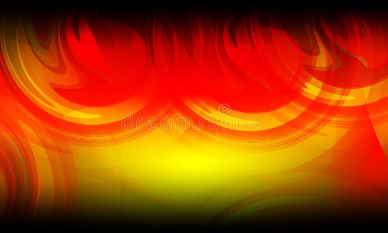 Kolorowy abstrakcjonistyczny t?o, tapeta Ilustracja, krzywa royalty ilustracja