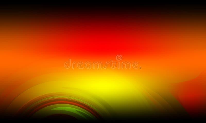 Kolorowy abstrakcjonistyczny t?o, tapeta Ilustracja, krzywa ilustracji