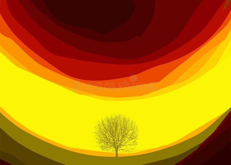 Kolorowy abstrakcjonistyczny tło z drzewem również zwrócić corel ilustracji wektora ilustracja wektor