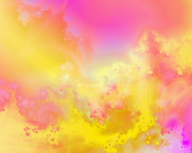 Kolorowy abstrakcjonistyczny tło z fractals ilustracja wektor