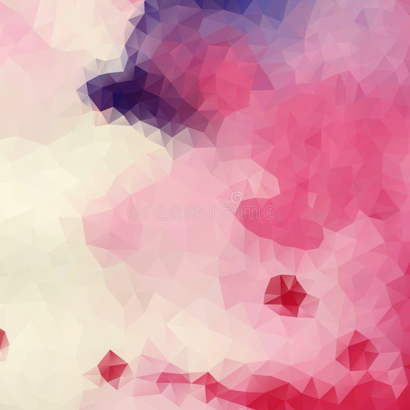 Kolorowy Abstrakcjonistyczny tło Z trójbokami royalty ilustracja