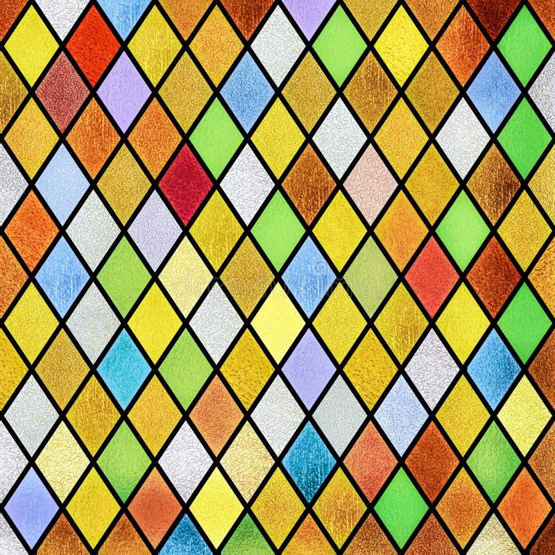 Kolorowy abstrakcjonistyczny witrażu okno tło obrazy royalty free