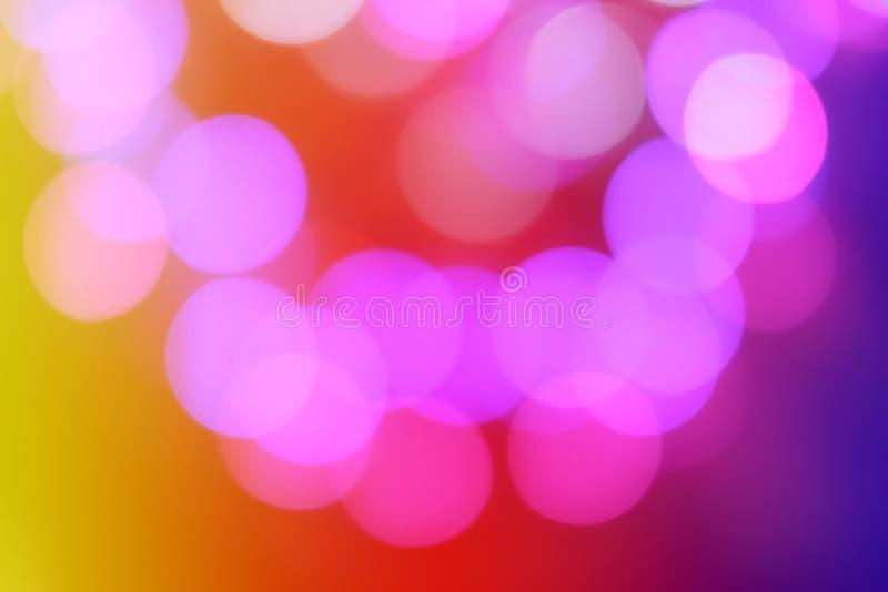 Kolorowy abstrakcjonistyczny zamazany kółkowy bokeh światło nocy miasta ulica dla tła graficznego projekta i strony internetowej  zdjęcia stock