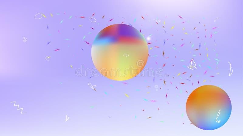 Kolorowy abstrakt przestrzeni tła obrazek nowożytny royalty ilustracja