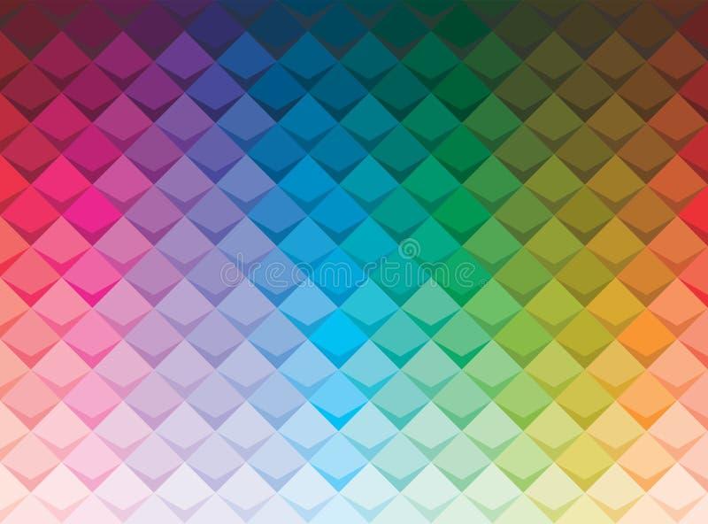 Kolorowy abstrakta kwadrata tło z cieniem ilustracja wektor