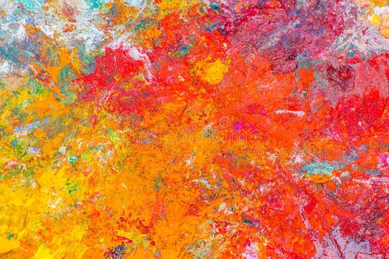 Kolorowy abstrakta wzór nafciana farba zdjęcia stock