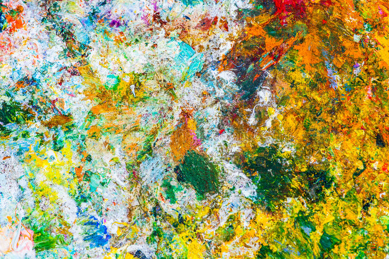 Kolorowy abstrakta wzór nafciana farba fotografia royalty free