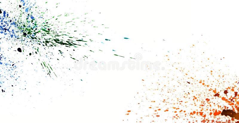 Kolorowy akwareli chełbotanie na bielu odizolowywa tła graphi royalty ilustracja