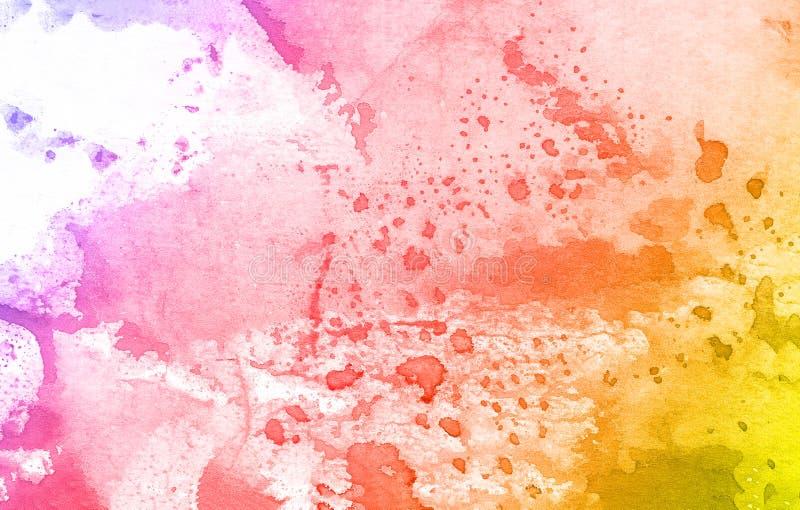 Kolorowy akwareli farby tło, pisze list scrapbook kreślić royalty ilustracja