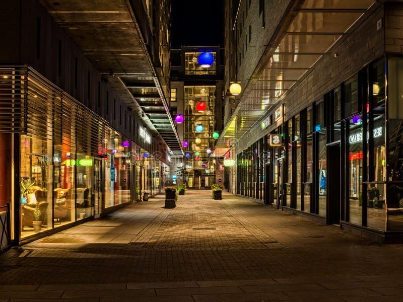 Kolorowy Alleyway zdjęcia royalty free