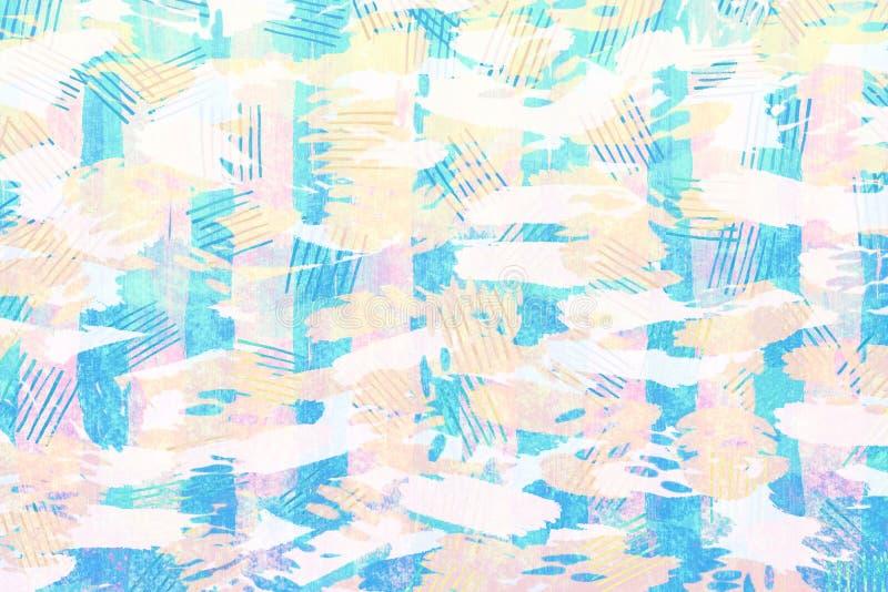 Kolorowy błękita, koloru żółtego i menchii tekstury abstrakta papierowy grunge, royalty ilustracja
