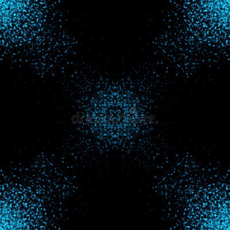 Kolorowy błyskotliwości tło dla stron internetowych lub prezentacji, świętowania, boże narodzenie dekoracja z czarnym tłem ilustracja wektor