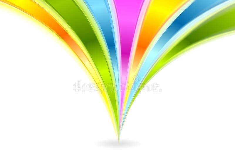 Download Kolorowy Błyszczący Fala Wektoru Tło Ilustracja Wektor - Ilustracja złożonej z tło, nowożytny: 53775455