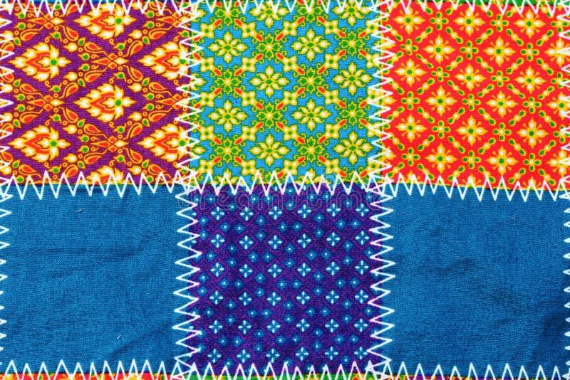 Kolorowy batikowy sukienny tkaniny tło fotografia stock