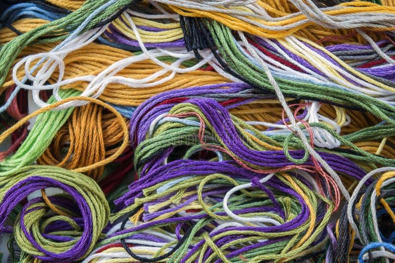 Kolorowy bawełniany floss fotografia royalty free