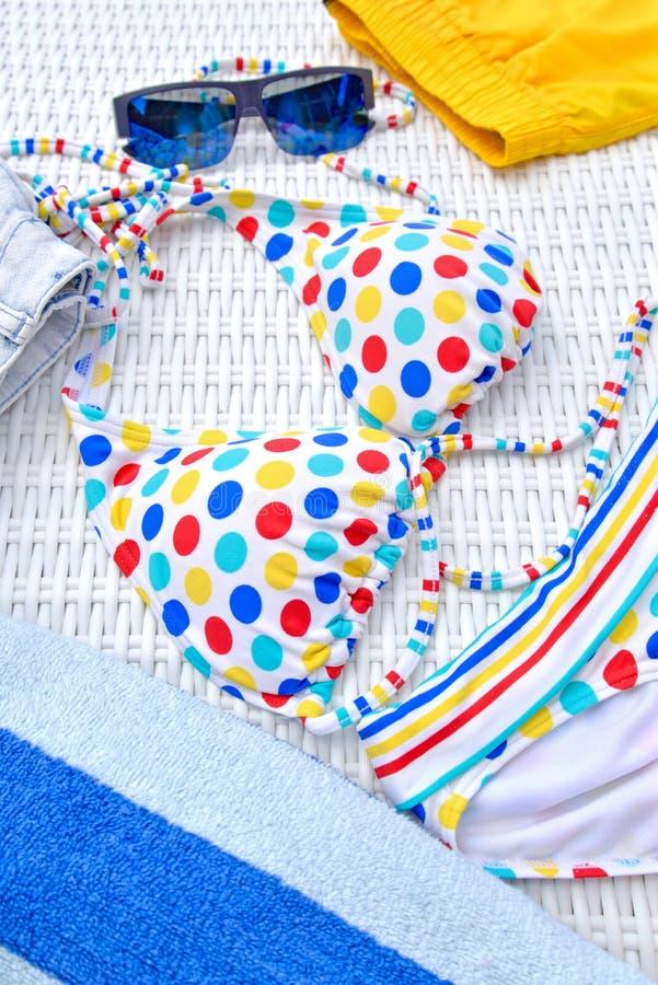 Kolorowy Beachwear obrazy stock
