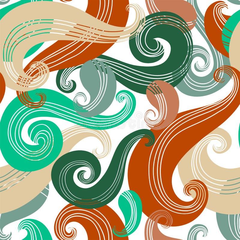 Download Kolorowy Bezszwowy Falowy Wzór Ilustracja Wektor - Ilustracja złożonej z retro, kolor: 28950265