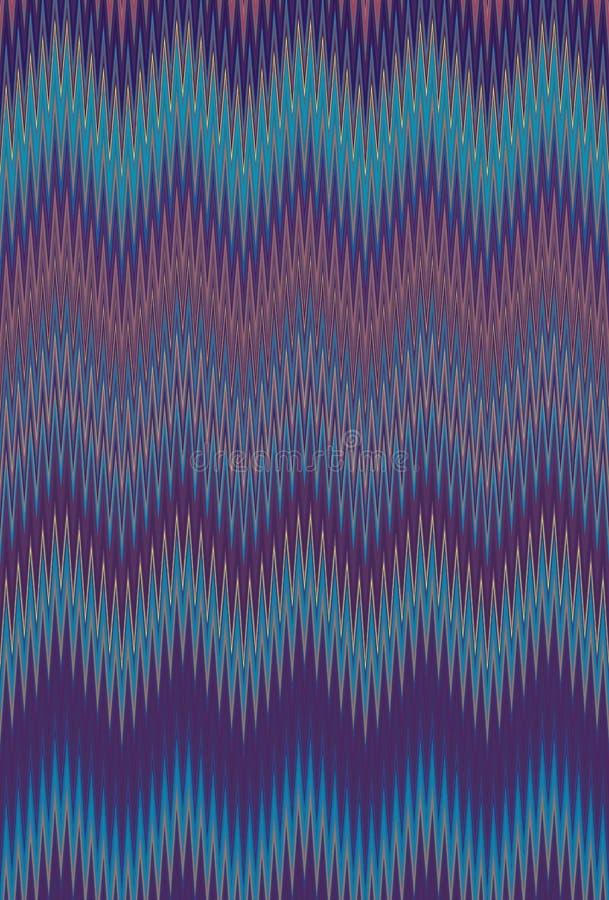 Kolorowy bezszwowy szewronu zygzag falowego wzoru abstrakcjonistycznej sztuki tło, tęcza wykazywać tendencję ilustracja wektor