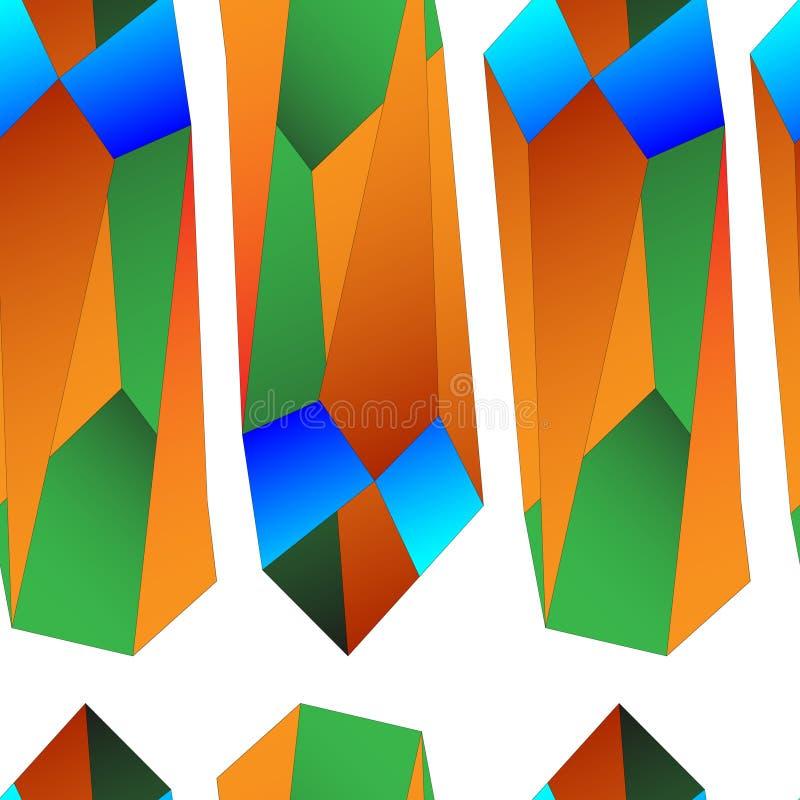 Kolorowy bezszwowy wzór dla tło i projekta ampuła wzór royalty ilustracja