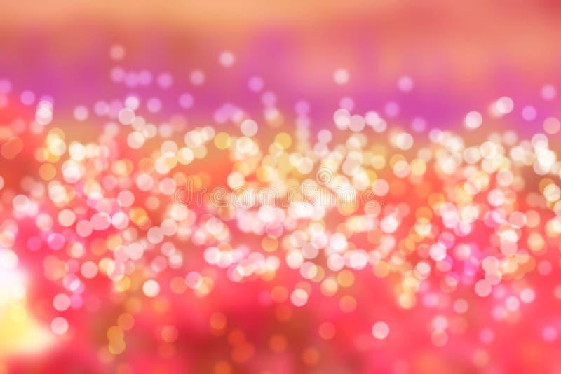 Kolorowy bokeh błękita światło zamazujący zdjęcie stock