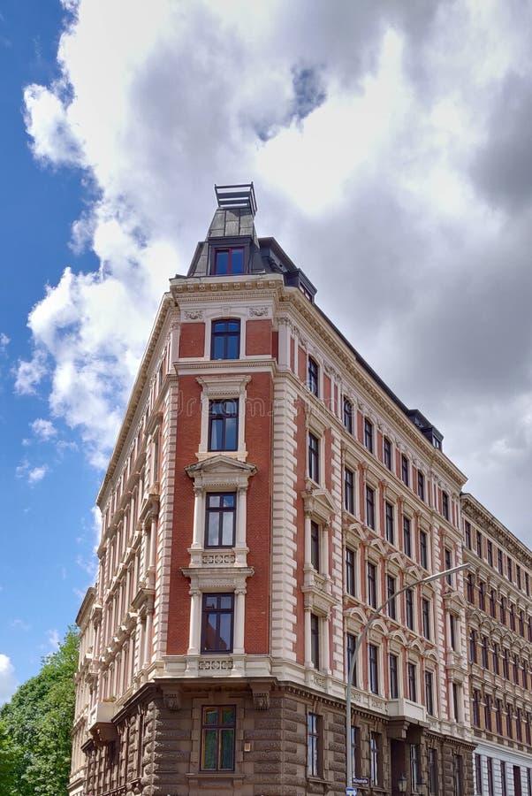 Kolorowy Buduje Hamburg zdjęcie royalty free